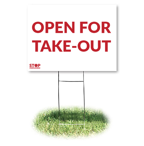 TAKE-OUT ONLY Yard Sign