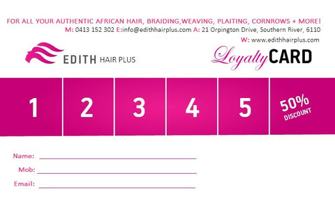 Our Loyalty Card