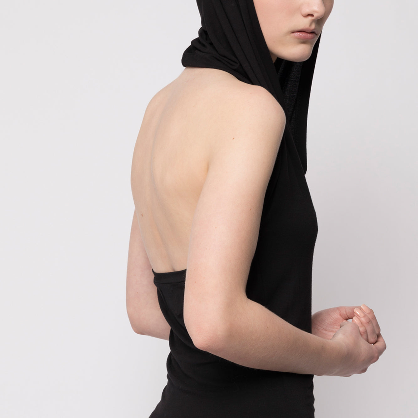 Jersey Dress with Hood - Tindi