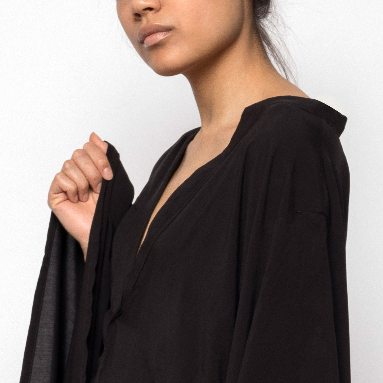 Fitted dress kimono sleeves - Tindi