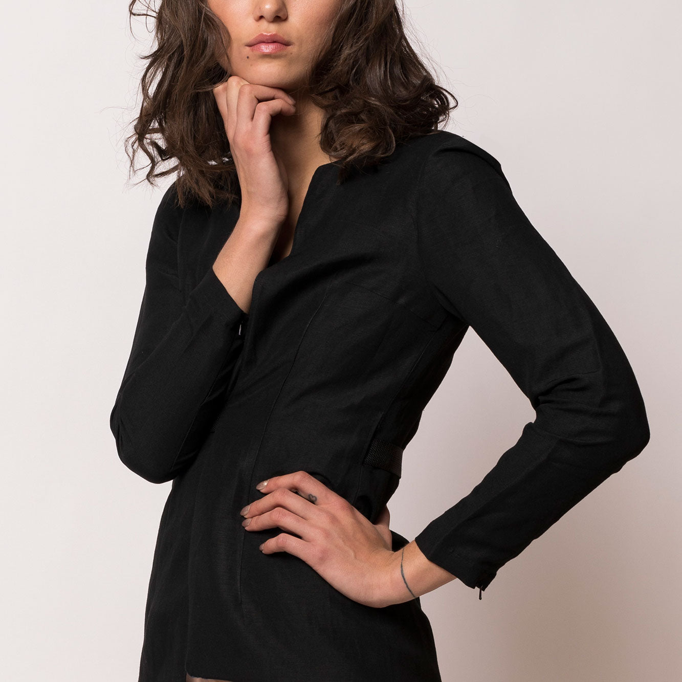Collarless Blazer - Tindi