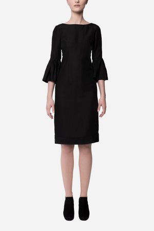 Fitted dress ruffle sleeves - Tindi