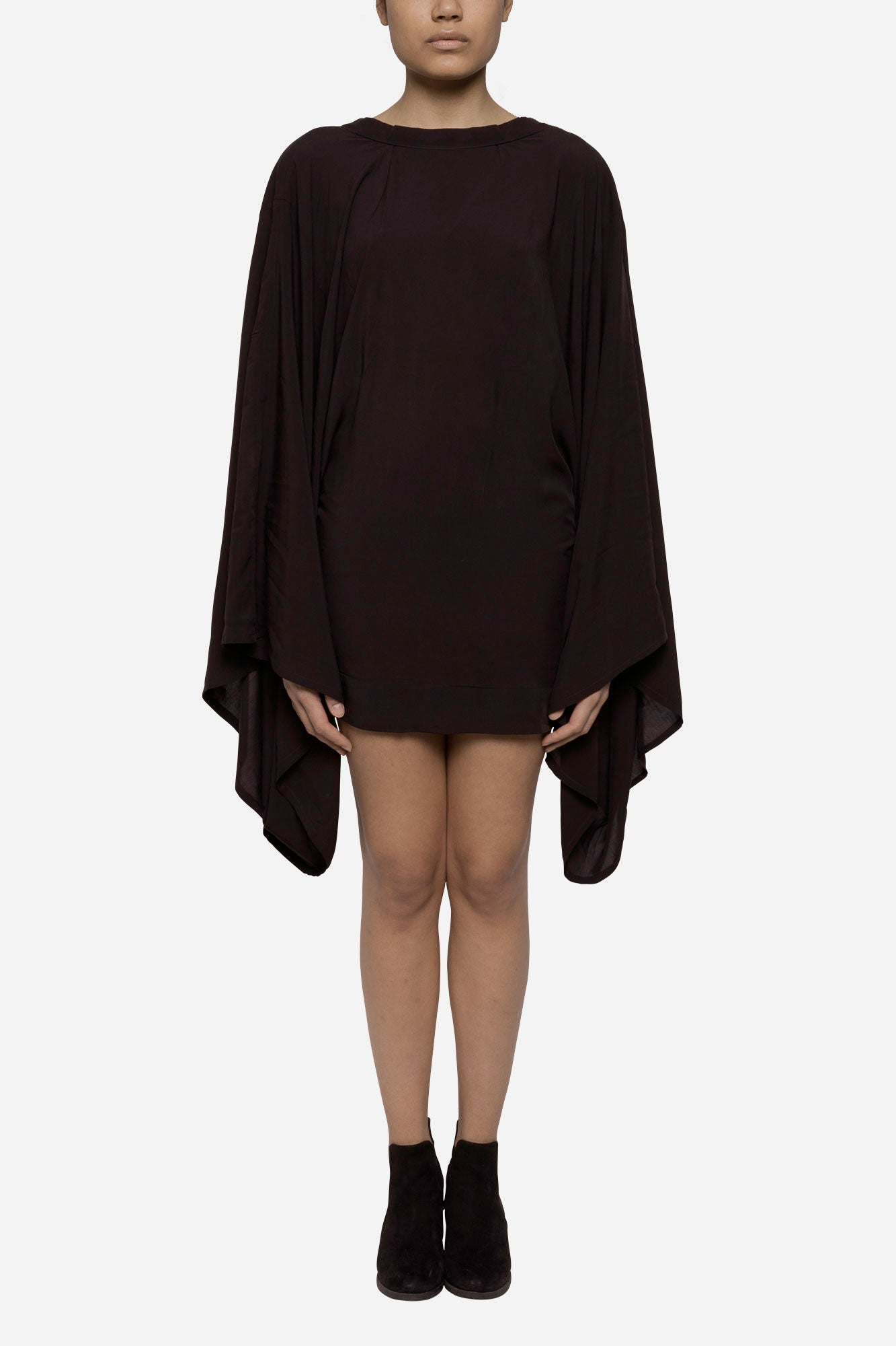 Viscose crew neck Kimono dress - Tindi