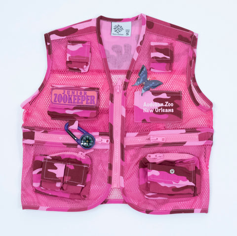 "Audubon Zoo ""Wild West"" Kid's Pink Vest"