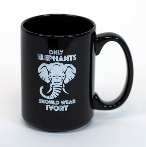 "Audubon Zoo ""ONLY ELEPHANTS SHOULD WEAR IVORY"" Mug"