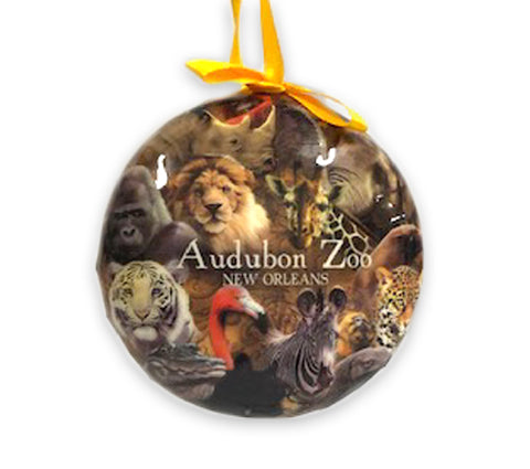 Audubon Zoo Animal Collage Globe Ornament