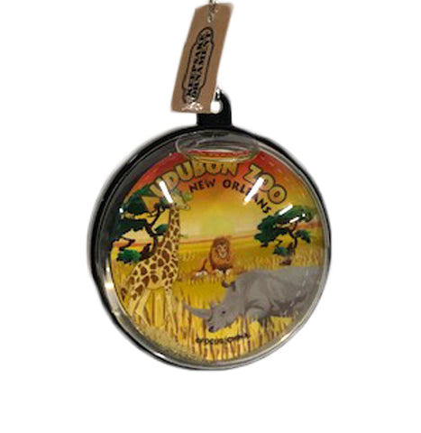 Audubon Zoo Glitter Water Globe Ornament