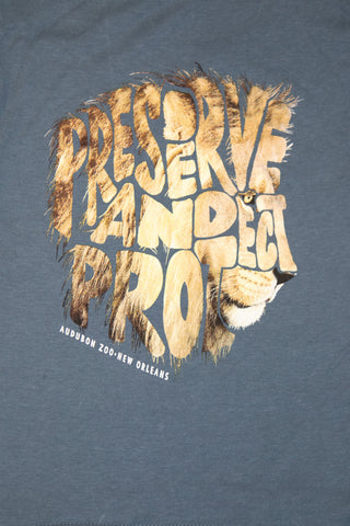 "Audubon Zoo ""PRESERVE AND PROTECT"" Lion Kid's T-Shirt"