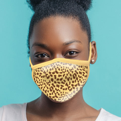 Cheetah Face Mask - Adult