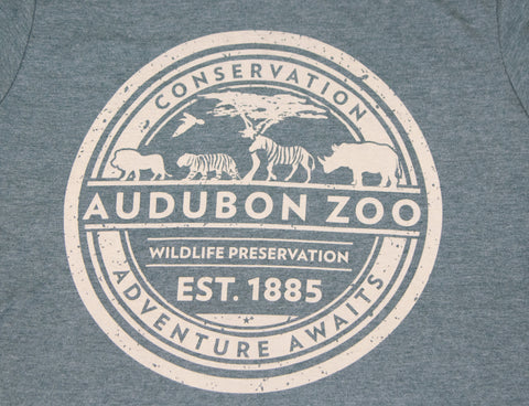 "Audubon Zoo ""CONSERVATION ADVENTURE AWAITS"" T-Shirt"