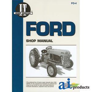 I&T Shop Service Ford Models 2N, 8N, and 9N Shop Manual - A-SMFO4
