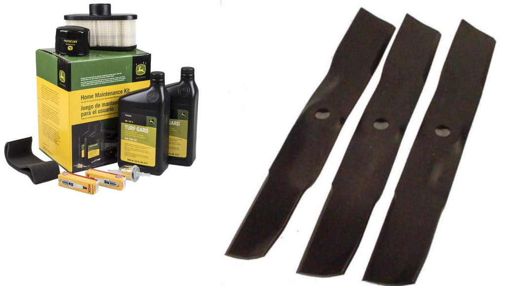 John Deere Original Equipment Full Maintenance Kit - LG265 + (3) M143520 Blades
