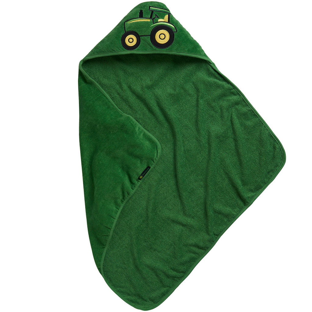 John Deere Infant Green Hooded Towel - LP63815