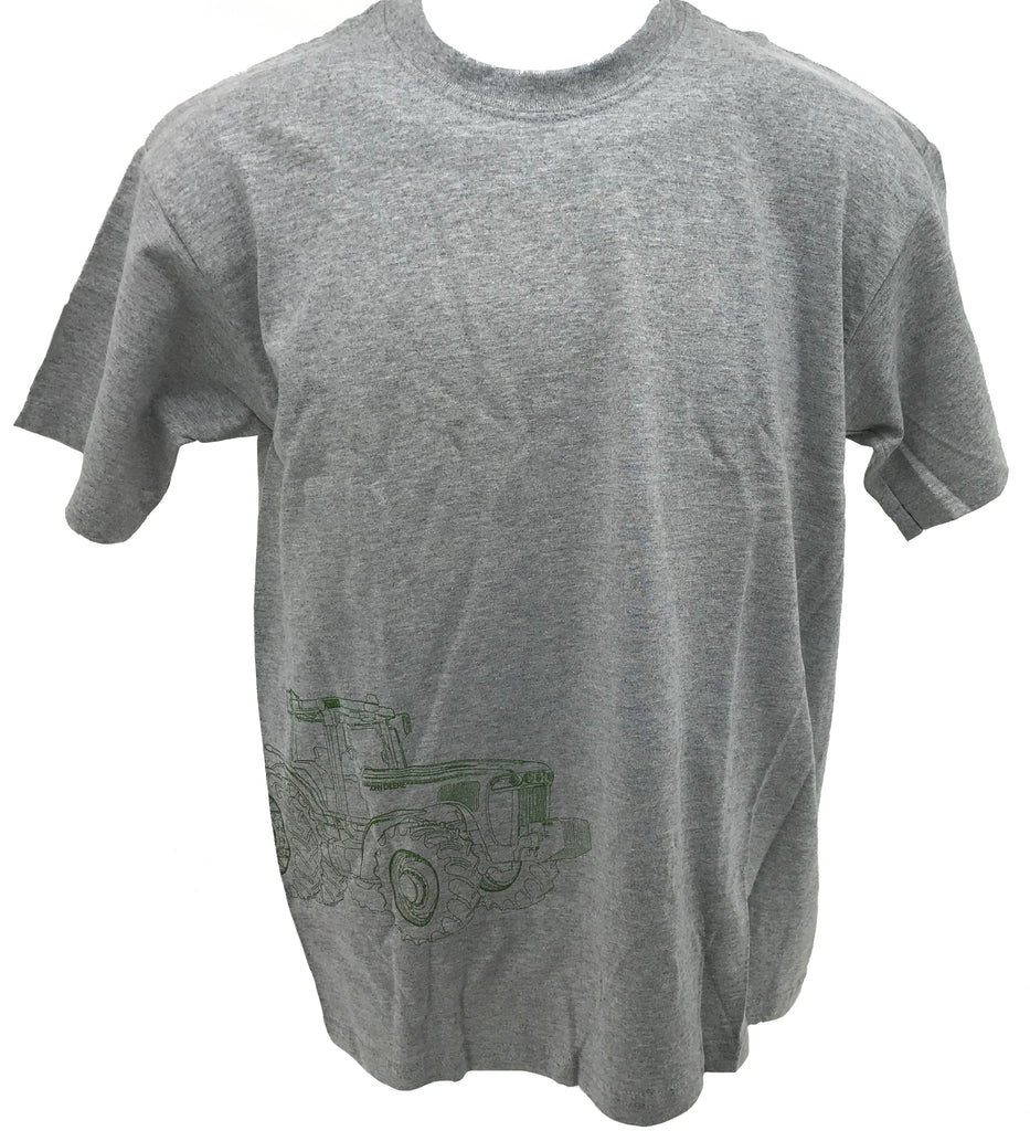 Youth Gray Tractor Outline T-Shirt (X-Large) - TUB34 - 77418 (XL)