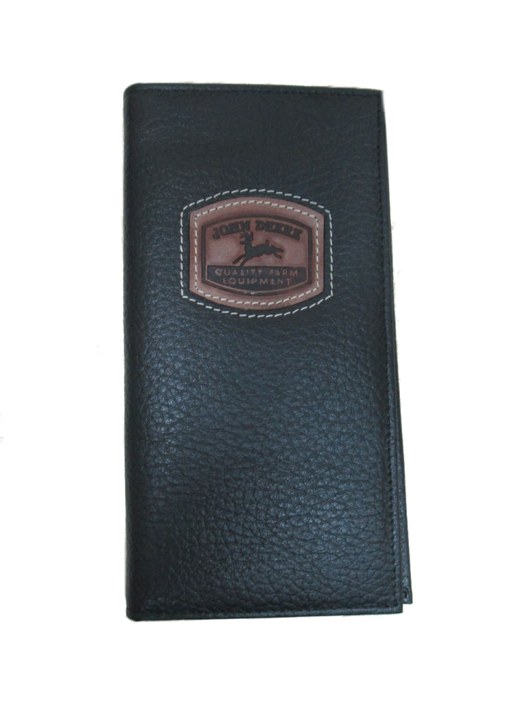 John Deere Checkbook Wallet w/Historical Logo (BLACK) - LP35483