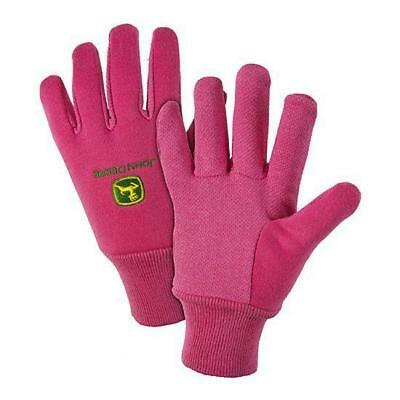 Ladies John Deere Lined Jersey Gloves (Pink) - LP47696
