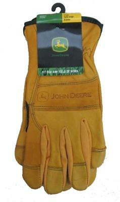Men's John Deere Leather Driver Gloves (LARGE) - LP42383