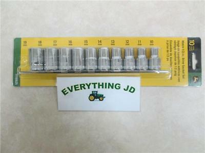 John Deere 10-Piece Metric 1/2-Inch Drive Socket Set - TY19925