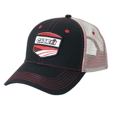 Case IH Black Front Patch Trucker Hat/Cap - A2343