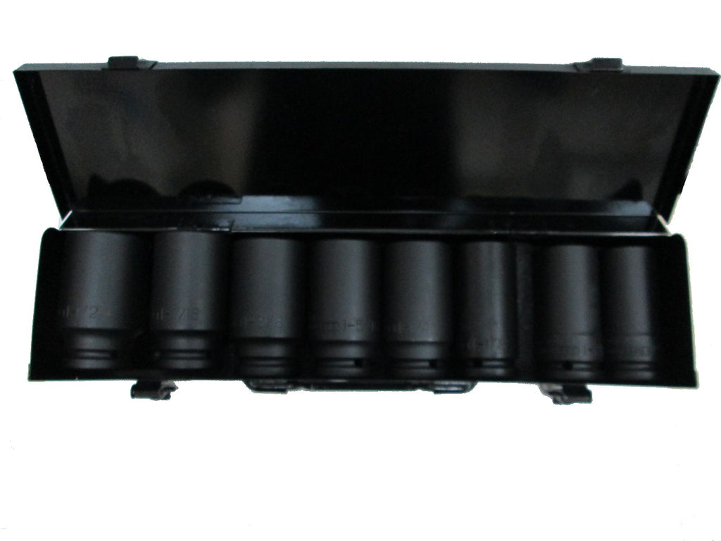 "John Deere SAE 6pt 3/4"" Drive Deep Impact Socket Set 8 Pieces - TY27271"