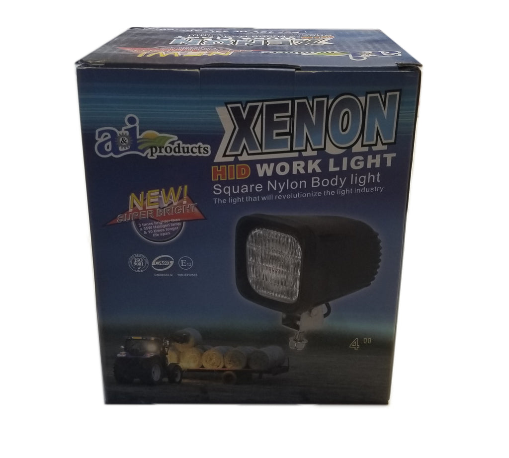 "Xenon HID 4"" Square Work Light 12V/24V Universal Fits Most Makes - A-WL8500-E"