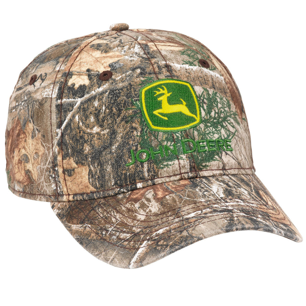 John Deere Washed Edge Realtree Camo Hat/Cap - LP69045