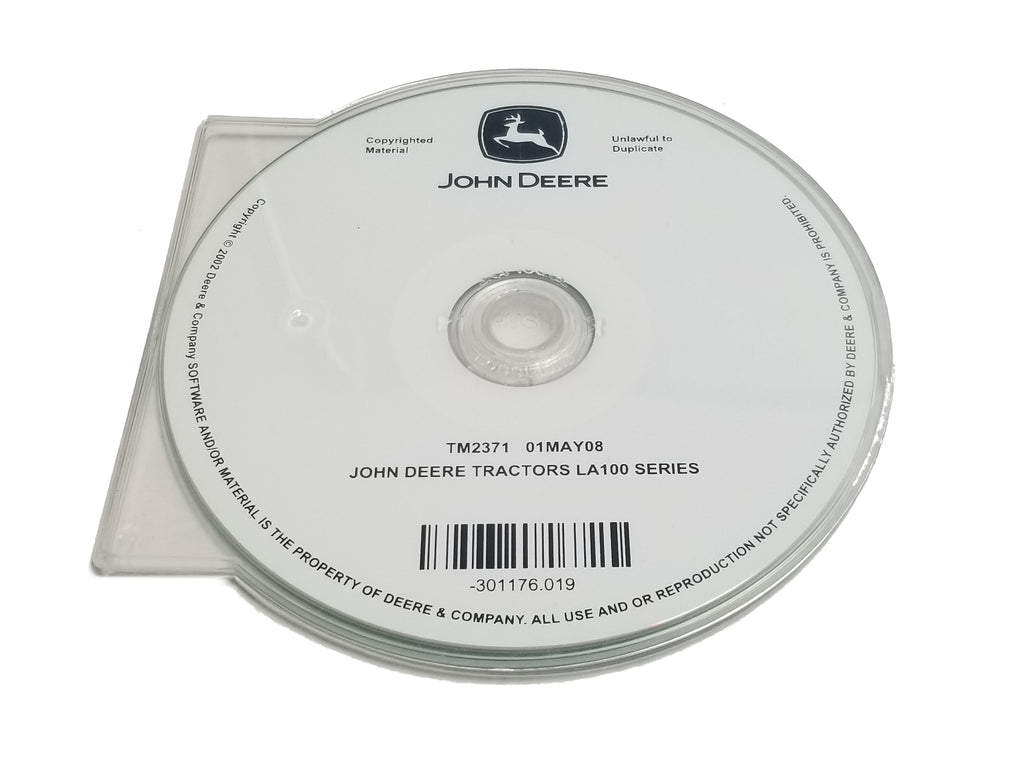 John Deere LA100/LA110/LA130/LA140/LA150 Series Tractors Technical CD Manual - TM2371CD