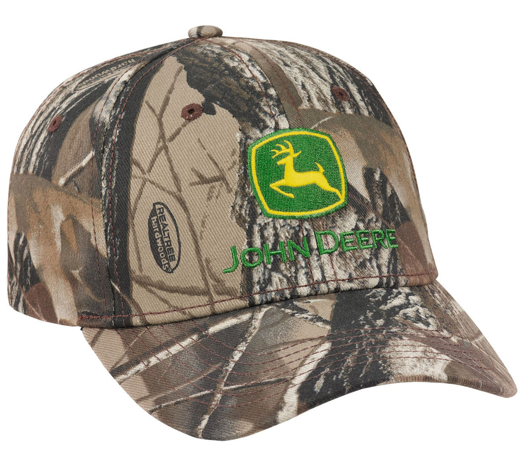 John Deere Men's Hardwoods Gray Camo Cap/Hat - LP69075
