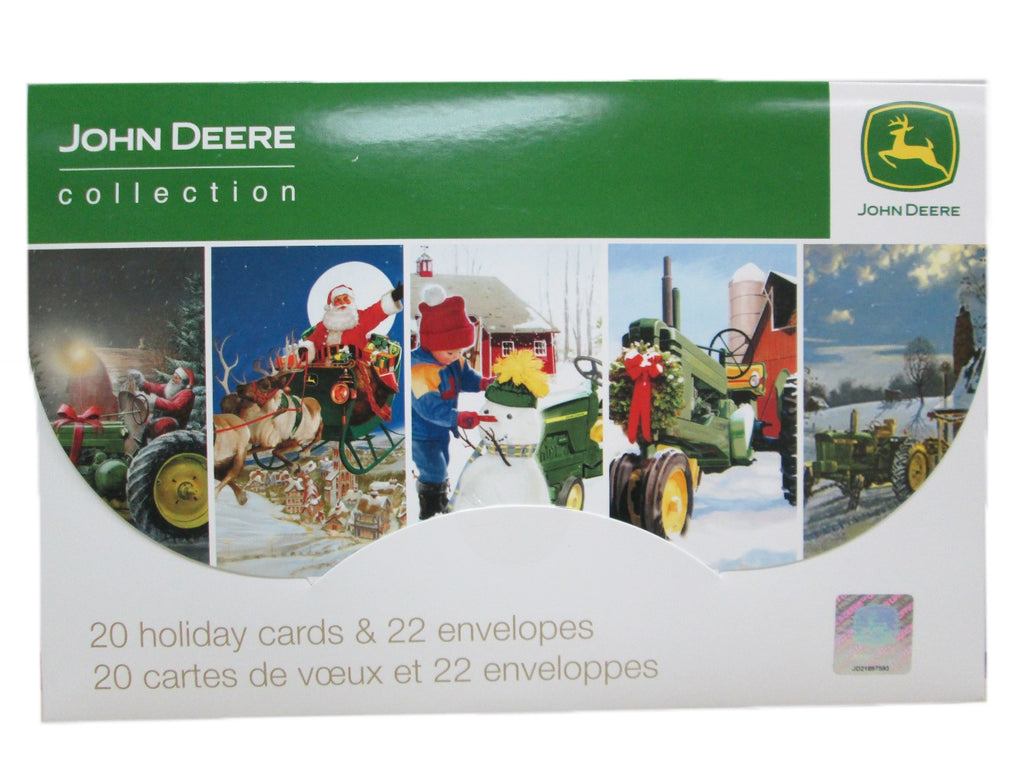 John Deere Holiday Greeting Cards (20 Pack) - LP51676