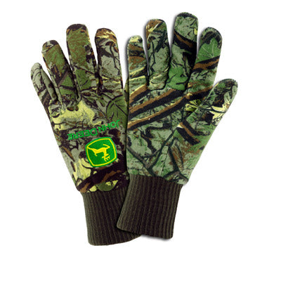 Mens John Deere Lined Camouflage Jersey Gloves (LARGE) - LP47694