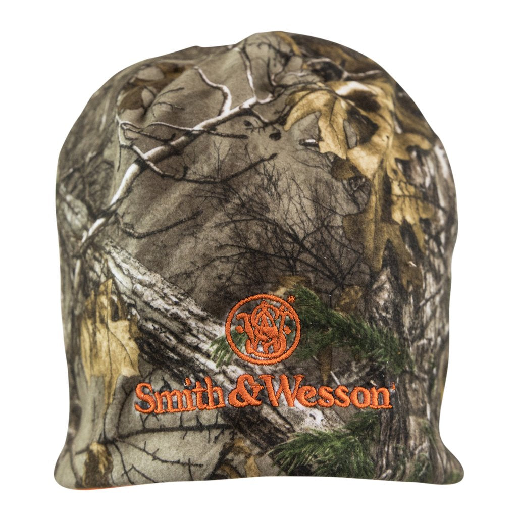 S&W Mens Reversible Blaze Orange Camo Beanie - A1801