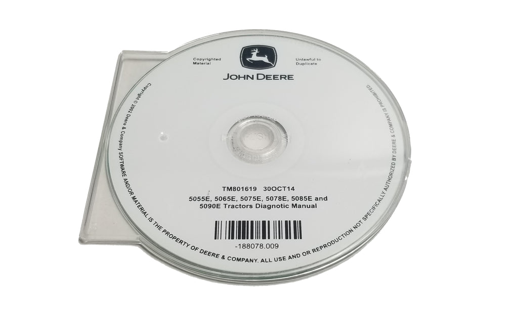 John Deere 5055E/5065E/5075E/5078E/5085E/5090E Tractors Diagnostic CD Manual - TM801619CD
