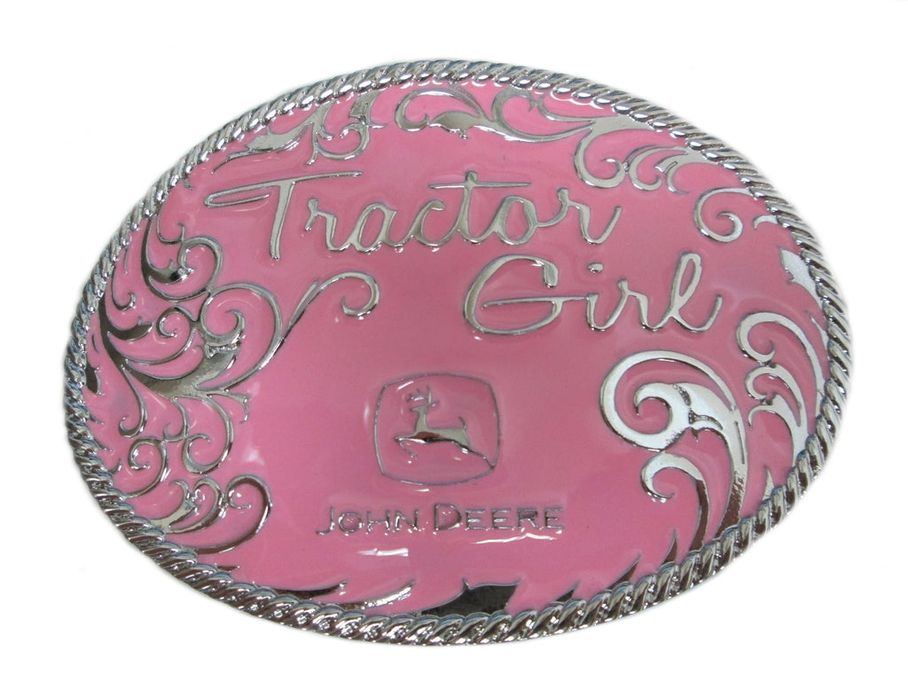 "John Deere ""Tractor Girl"" Belt Buckle (Pink) - LP49312"