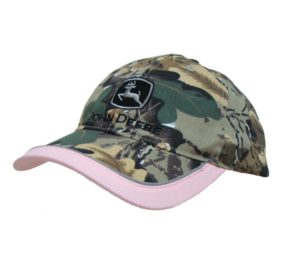 Ladies John Deere Camouflage with Reflective Trim Hat/Cap - LP43952