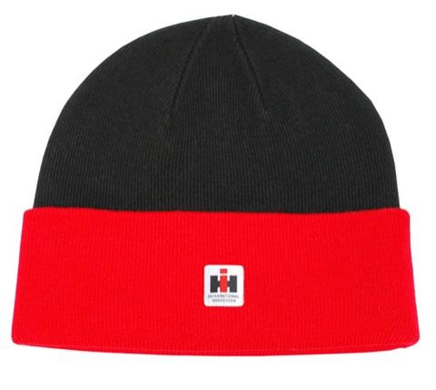 Case IH Red Knit Watch Hat/Cap in Red and Black - 12IHK014