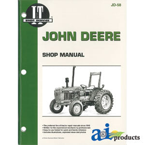I&T Service JD-58 Diesel Models Shop Manual A-SMJD58
