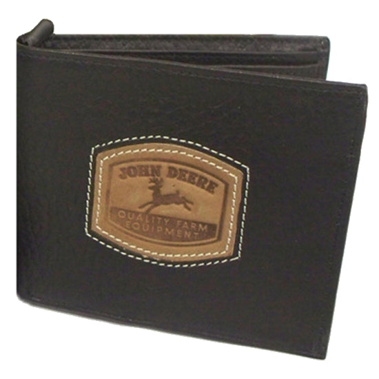 John Deere Historical Logo Bi Fold Wallet (Brown) - LP35480