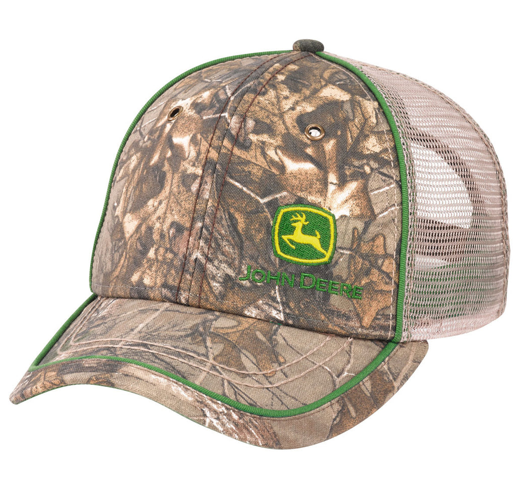 John Deere Men's Realtree APX Camo with Mesh Hat/Cap - LP69066
