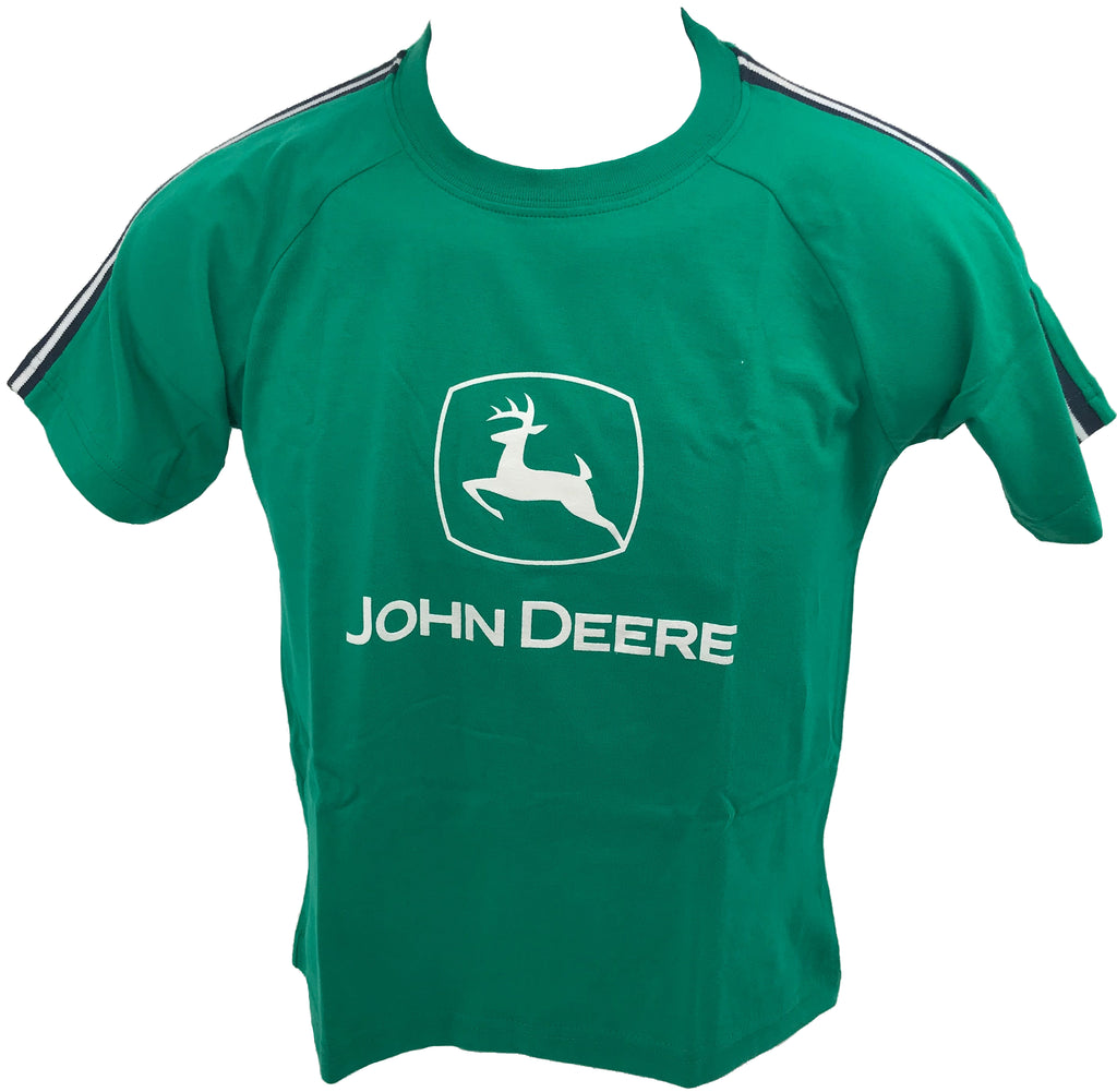 John Deere Boys Green Logo Sport T-Shirt (Large 8) - JD01237