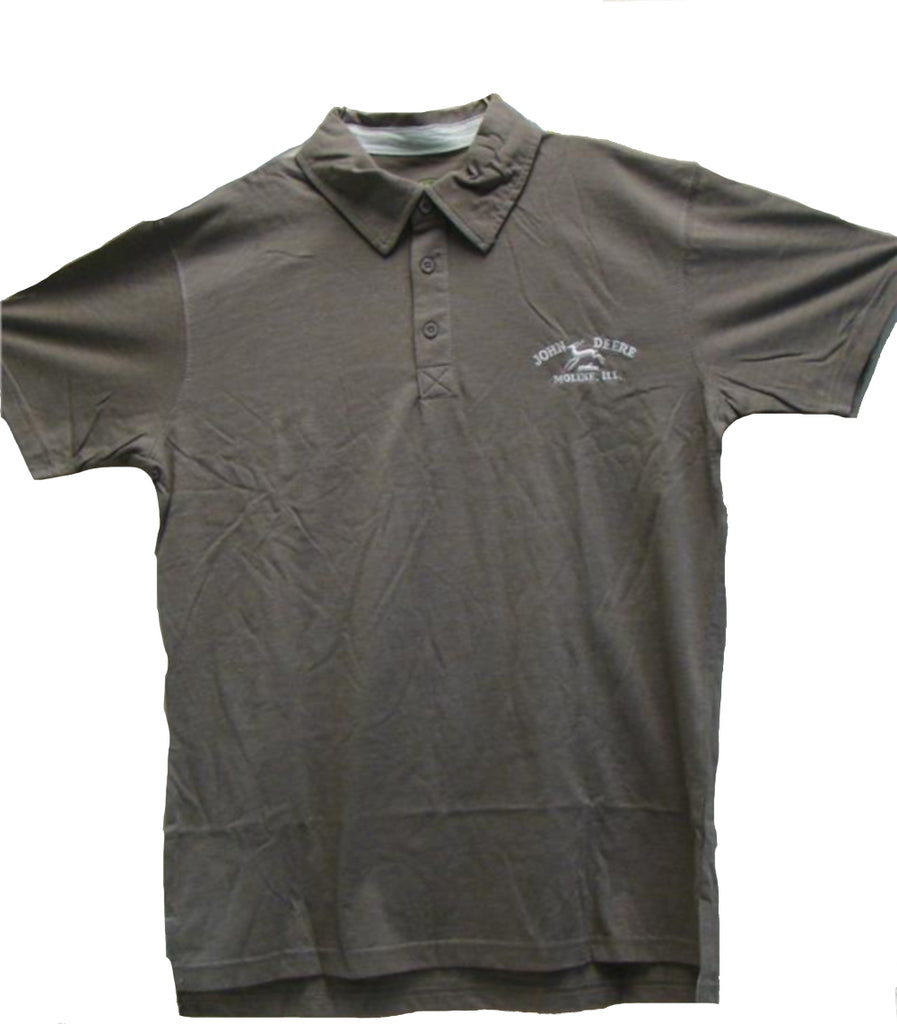 Men's John Deere Brown Polo with Historical Logo (Large) - LP41790