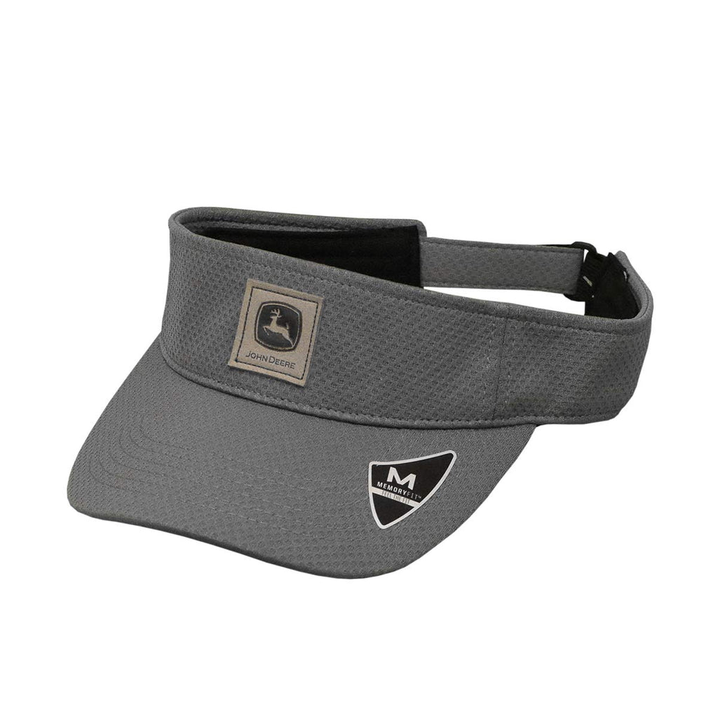 John Deere Men's Charcoal Memory Fit Visor/Cap - LP70341