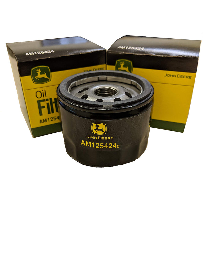 John Deere Original Equipment Package of Two Oil Filters - AM125424 (2)