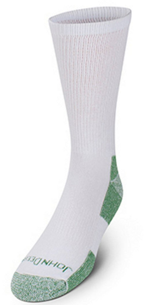 Men's John Deere 4 Pack Socks Bundle of 5 (White) - LP68847