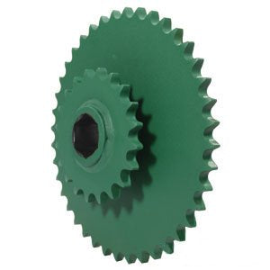 John Deere Round Baler Lower Drive Roll Double Sprocket 20/40 Tooth Part No: A-AE39652
