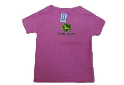 Infant/Toddler John Deere Logo T-Shirt (Bright Pink) **NWT**(12 Months) - LP11861