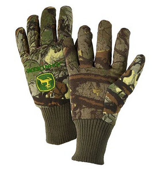 Men's John Deere Camouflage Light Duty Grip Gloves - LP42384