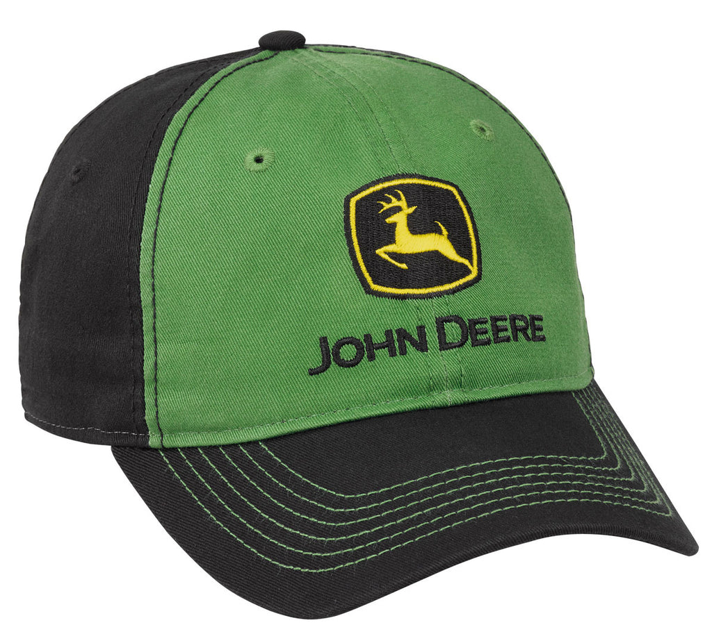 John Deere Men's Washed Chino Hat/Cap (Green/Black) - LP69048