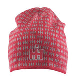 IH Red Jaquard Knit Beanie - 16IHK038