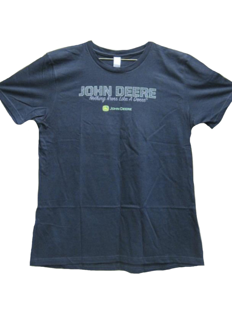 "Ladies John Deere Black ""Jeweled"" Graphic T-shirt *NWT* (SMALL) - LP43170"