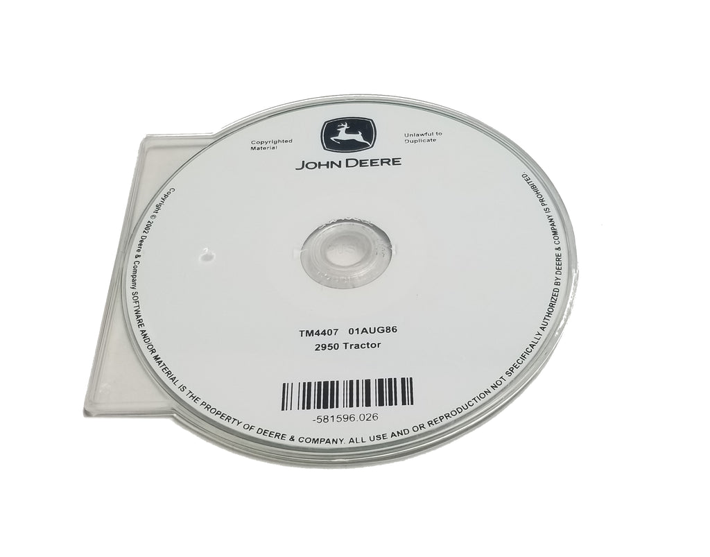 John Deere 2950 Tractor Technical CD Manual - TM4407CD